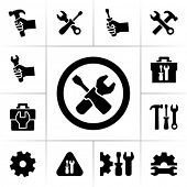 stock photo of mechanical engineer  - Tools icons - JPG