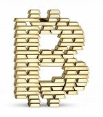 ������, ������: Bitcoin symbol from gold bars