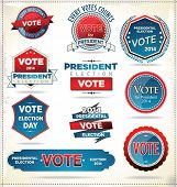 pic of election campaign  - Presidential Election Badges And Labels - JPG