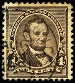 Vintage Us Postage Stamp Of President Lincoln