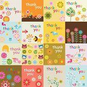 foto of thank you card  - Vector Design 16 Thank You Card Templates - JPG