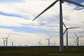 stock photo of kinetic  - Wind turbines in Caithness - JPG