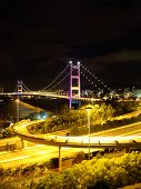 picture of hong kong bridge  - Hong Kong Tsing Ma bridge - JPG