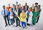 picture of diversity  - Diverse Multiethnic People with Different Jobs - JPG