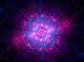 image of higgs boson  - Higgs boson pink god particle computer generated fractal background - JPG