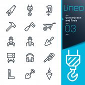 foto of outline  -  Construction and Tools outline icons - JPG