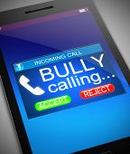 stock photo of bullying  - Illustration depicting a phone with a bullying concept - JPG