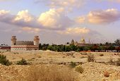 image of jericho  - view of the greek orthodox monastery of st. Gerasimos (Deir Hajla), near Jericho, Israel