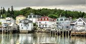 picture of lobster boat  - Stonington Maine is a genuine lobster fishing village - JPG