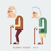 picture of old lady  - Elderly people - JPG
