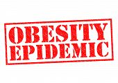 foto of epidemic  - OBESITY EPIDEMIC red Rubber Stamp over a white background - JPG