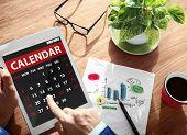 image of weekdays  - Calendar Contemporary Digital Device Concepts - JPG
