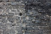 image of mortar-joint  - Brick masonry with rich and various texture.