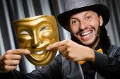 picture of pantomime  - Funny concept with theatrical mask - JPG
