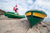 picture of polonia  - Fishing boats on Baltic Sea beach in Karlikowo District in Sopot Poland