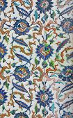 stock photo of harem  - Tiled mosaic wall in the Harem in Istanbul Turkey - JPG