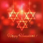 pic of hanukkah  - Happy Hanukkah blurred background  - JPG