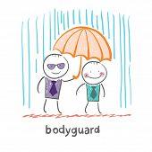 stock photo of bodyguard  - Bodyguard - JPG