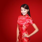picture of traditional attire  - happy Chinese new year - JPG