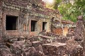 picture of mystique  - Ruins of ancient temple lost in jungle - JPG