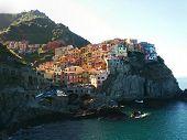 stock photo of west village  - The Cinque Terre is a rugged portion of coast on the Italian Riviera - JPG