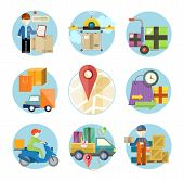 foto of shipping receiving  - Concept of services in delivery goods - JPG