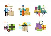 image of shipping receiving  - Concept of services in delivery goods - JPG