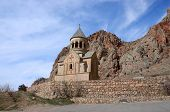 foto of armenia  - Surb Astvatsatsin church in Noravank orthodox monastery located in gorge made by Amaghu River - JPG