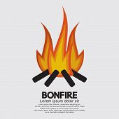 pic of ignite  - Isolated Bonfire Graphic Vector Illustration - JPG