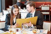 stock photo of buffet lunch  - Passionate about business - JPG
