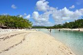 image of mauritius  - Beach of small tropical island of Cerf Mauritius island - JPG