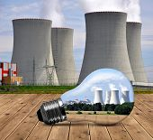 picture of reactor  - Nuclear power plant in bulb - JPG