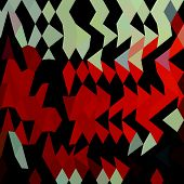 stock photo of harlequin  - Low polygon style illustration of a harlequin abstract background - JPG