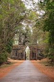 stock photo of mystique  - Arch to the ancient city of Angkor - JPG
