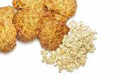 foto of oats  - Oatmeal cookies and oat - JPG