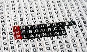 foto of enterprise  - ERP Enterprise Resource Planning writen on black and white dices - JPG