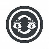 stock photo of yen  - Image of dollar yen exchange in circle - JPG