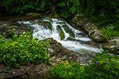 image of gatlinburg  - Roadside waterfall on the Little River Road - JPG