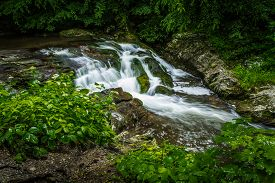 picture of smoky mountain  - Roadside waterfall on the Little River Road - JPG