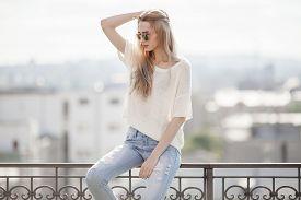 stock photo of slim model  - Fashion model - JPG