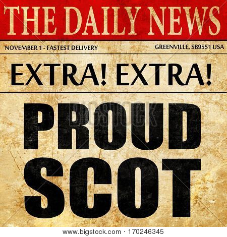 proud scot newspaper article text