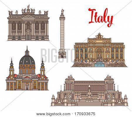 Italian travel landmarks