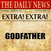 Постер, плакат: godfather newspaper article text