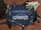 Automobile Vehicle Car Mechanic Maintenance Concept poster