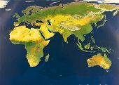 stock photo of eastern hemisphere  - Eastern hemisphere from space  - JPG
