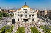 Palacio de Bellas Artes or Palace of Fine Arts, a famous theater,museum and music venue in Mexico Ci poster
