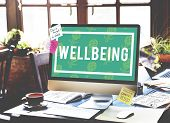 Healthy Lifestyle Balance Calm Wellbeing Relax poster