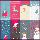 picture of christmas cards  - Cartoon Christmas cards - JPG