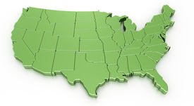 image of united states map  - 3d rendering of a map of USA - JPG