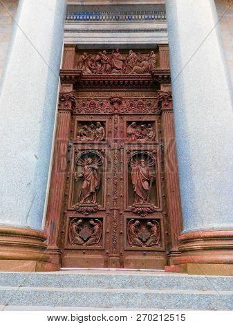 Ancient Antique Wooden Doors With
